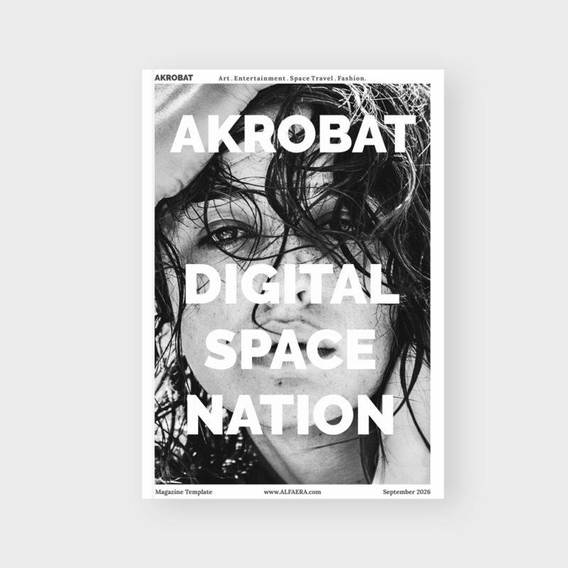 Cover Magazine Template CorelDraw