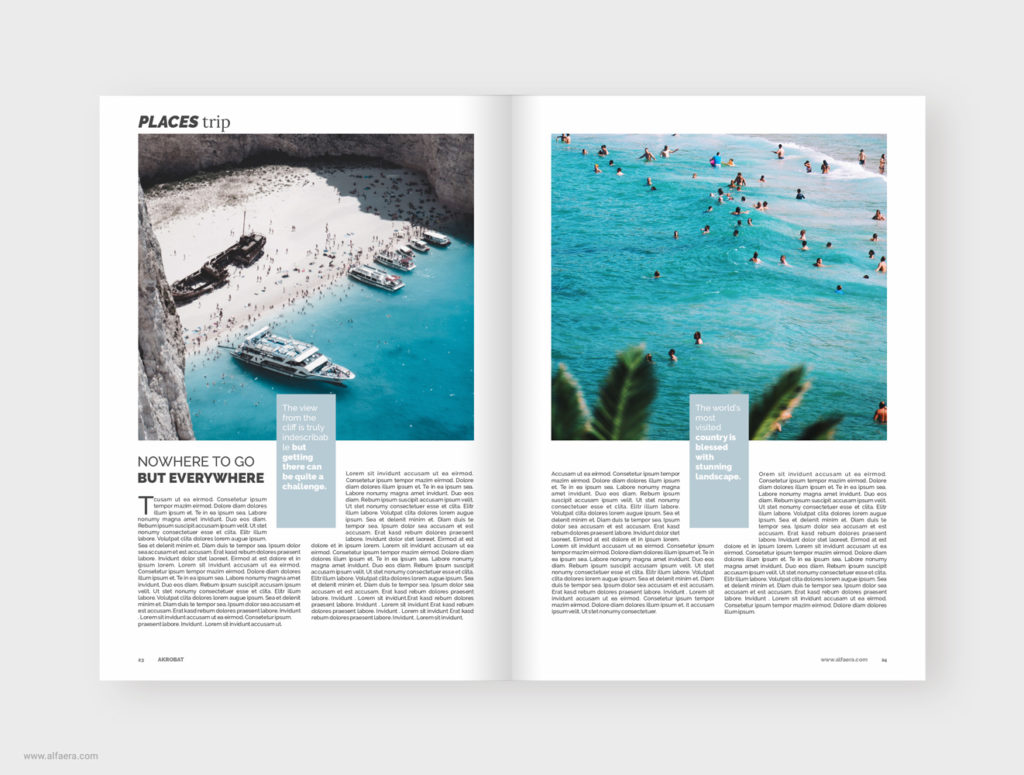 CorelDraw Travel Magazine Template
