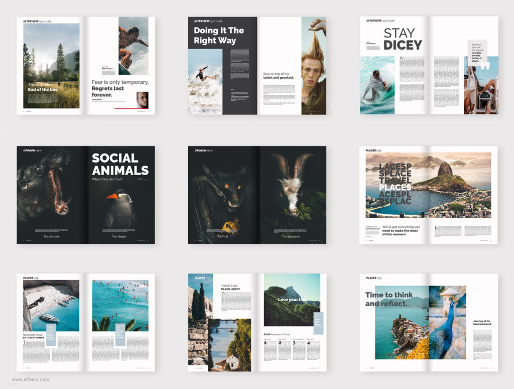 Travel Magazine Template CorelDraw