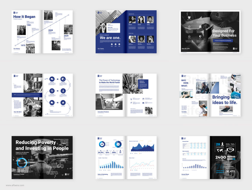 Company Brochure Template CorelDraw