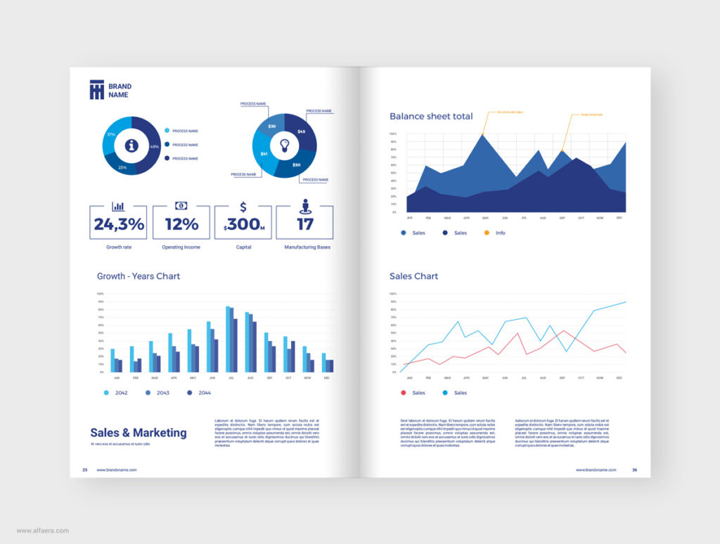 Annual Report Template CorelDRAW