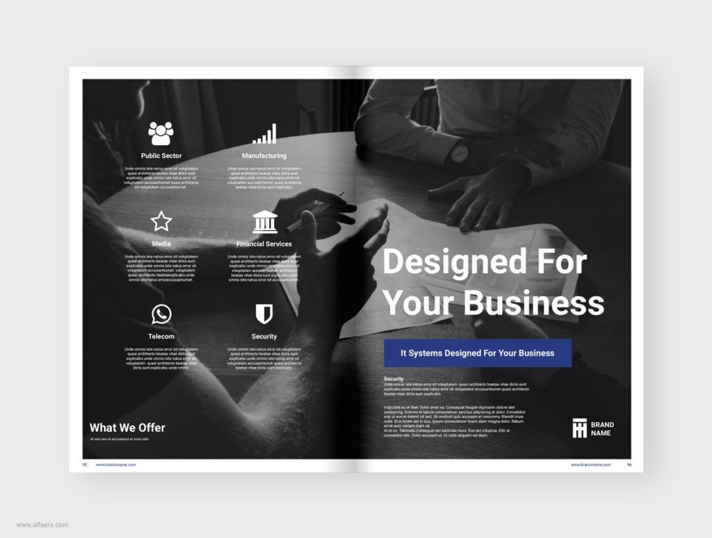 Brochure Template CorelDraw