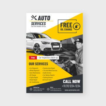 Auto Flyer Template Coreldraw