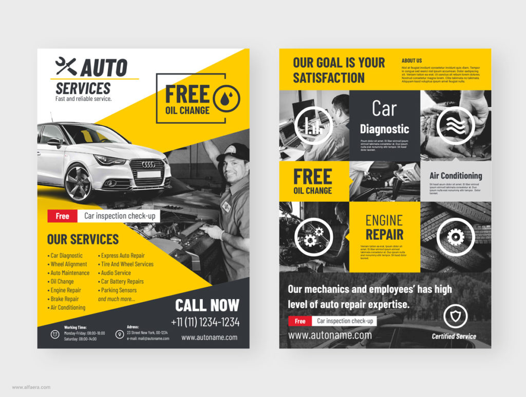 Car Flyer Template CorelDRAW