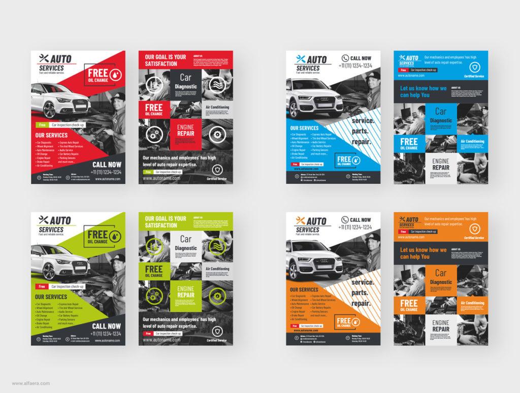 Auto Business Flyers CorelDRAW