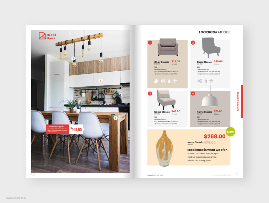 Furniture Product Catalog Template