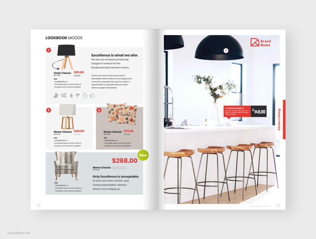 Ikea Style Catalogue Template