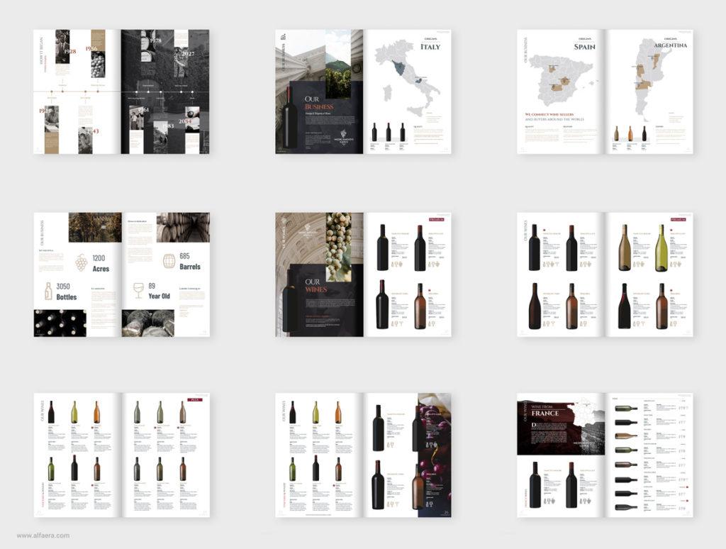 Wine Catalog Template Design