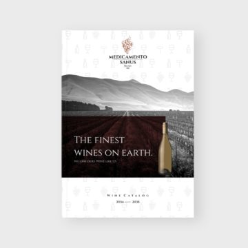 Wine Catalogue Brochure Template Cover