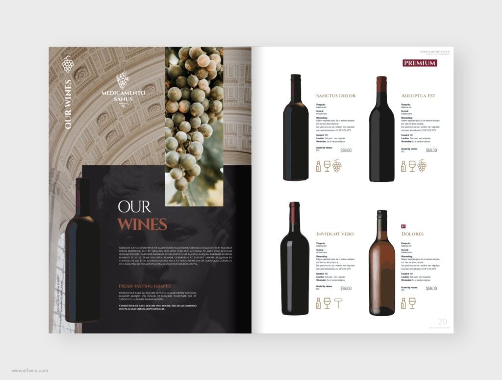 Wine Product Catalog Template