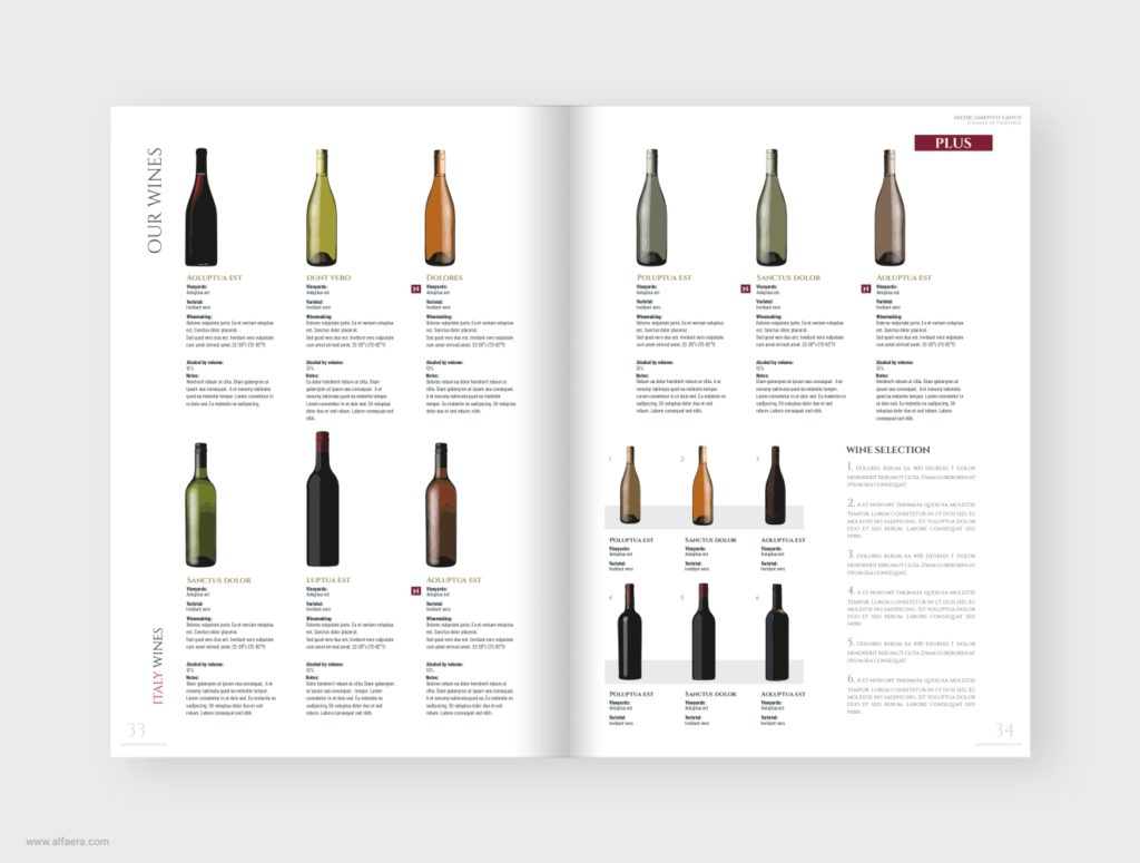 Wines Product Catalog Template