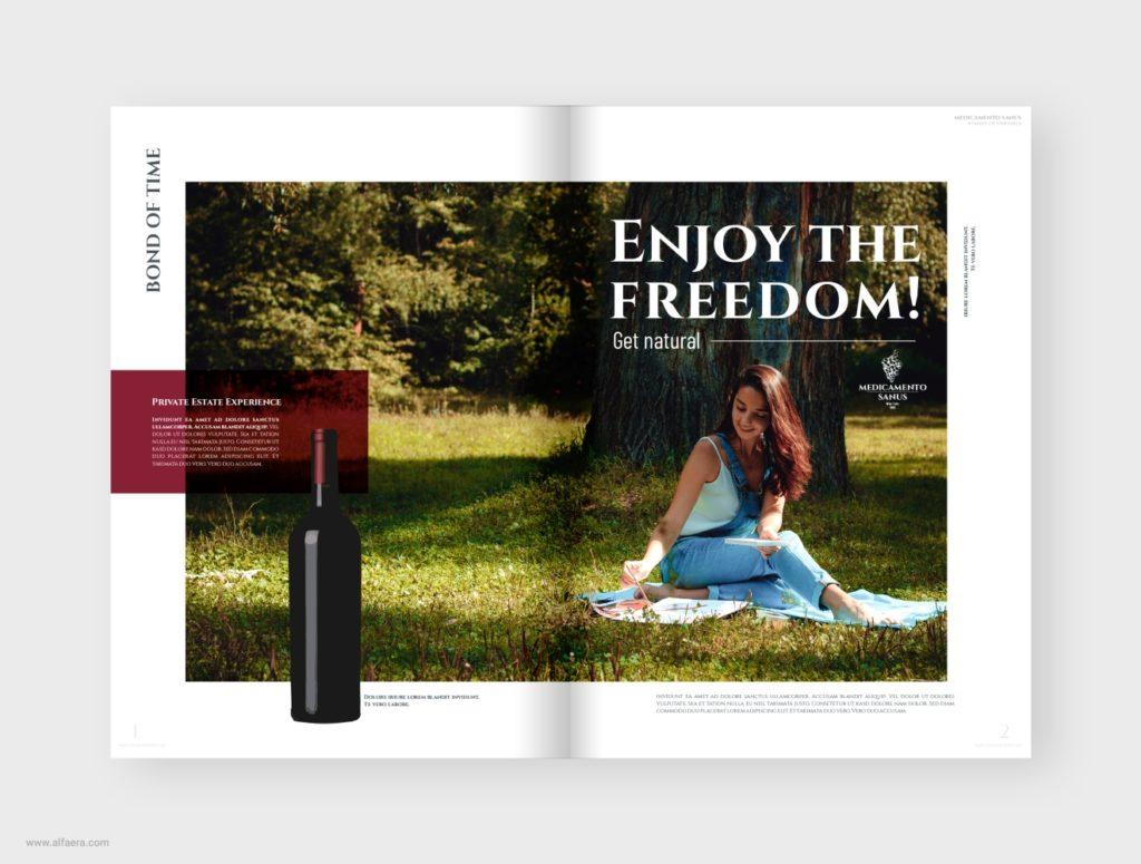 Wine Catalogue Brochure Template CorelDraw