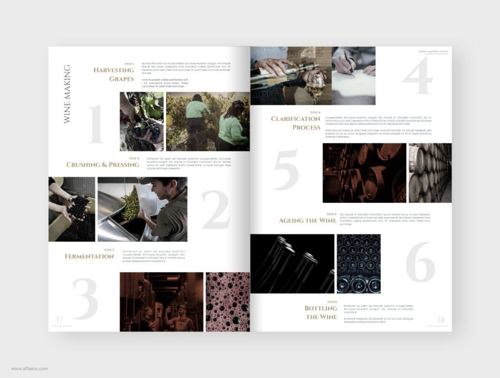 Wine Making Brochure Template