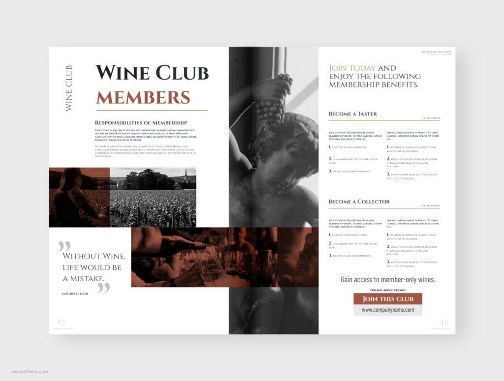 Wine Club Brochure Template