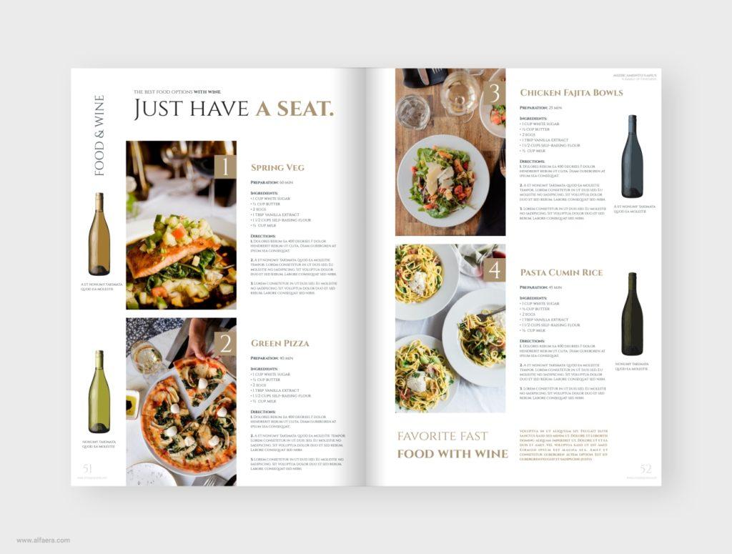 Wine Food Brochure Template