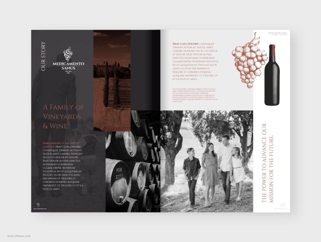 Wine Vineyard Winery Catalog Template