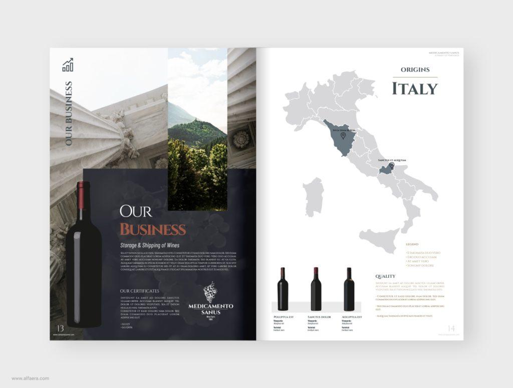 Wine Catalog Template CorelDraw