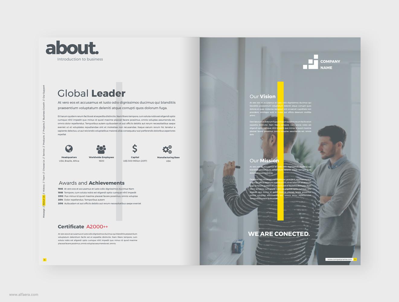 623715569 Company Profile Brochure CorelDRAW Template - ALFAERA - CorelDraw ...