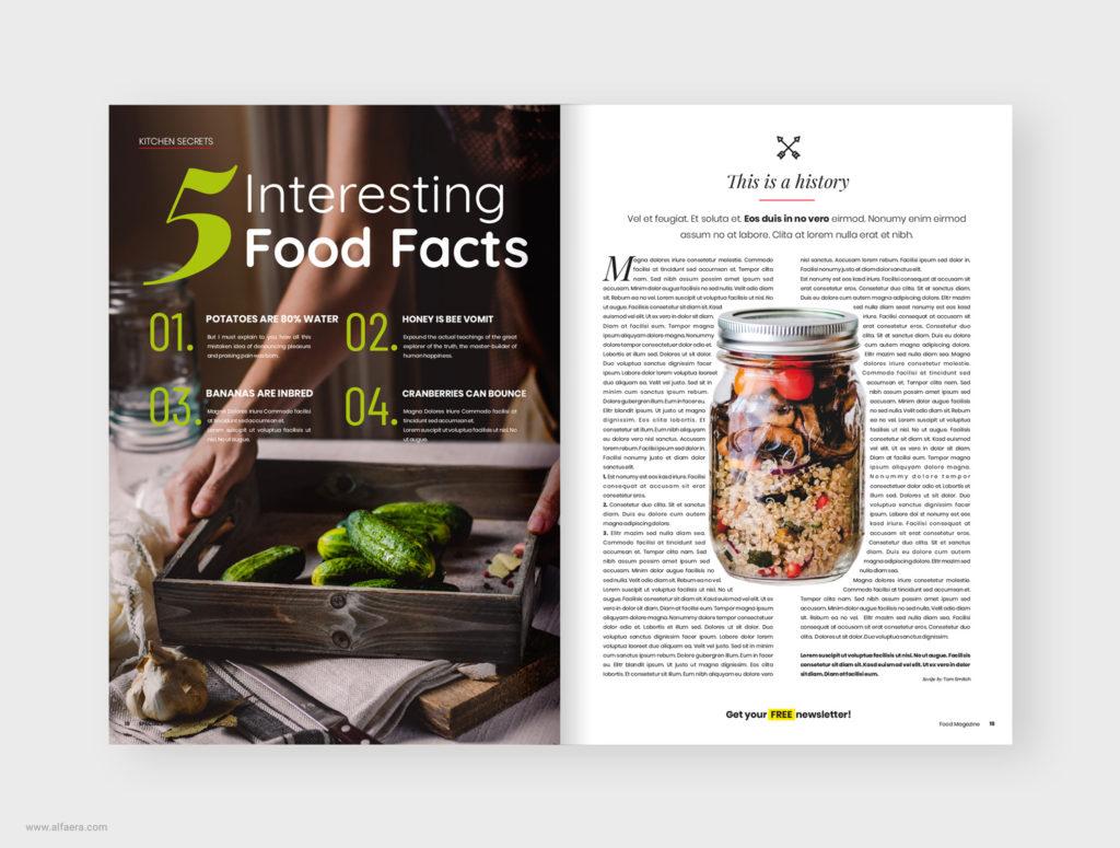 Food Magazine Template CorelDRAW