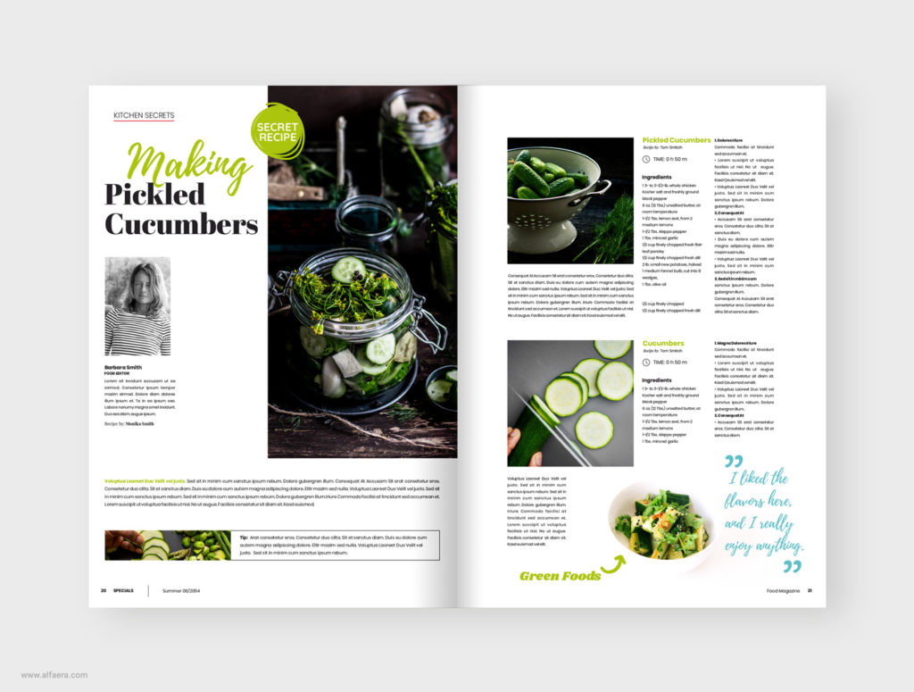 Cook Magazine Template