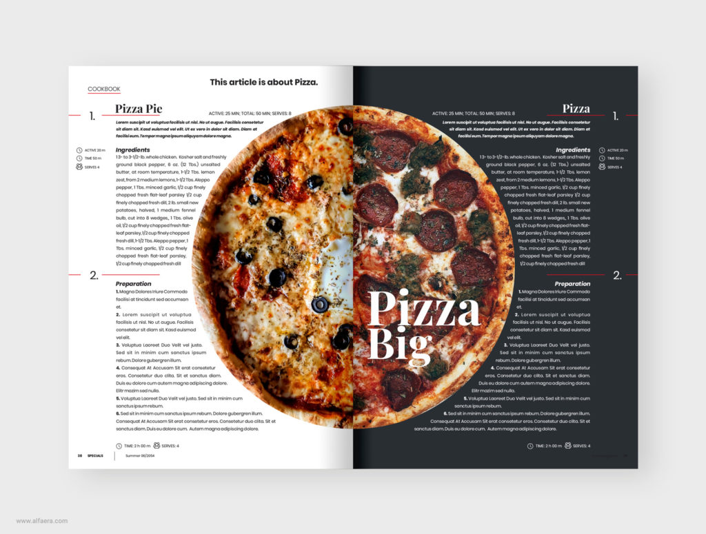 Pizza food brochure template