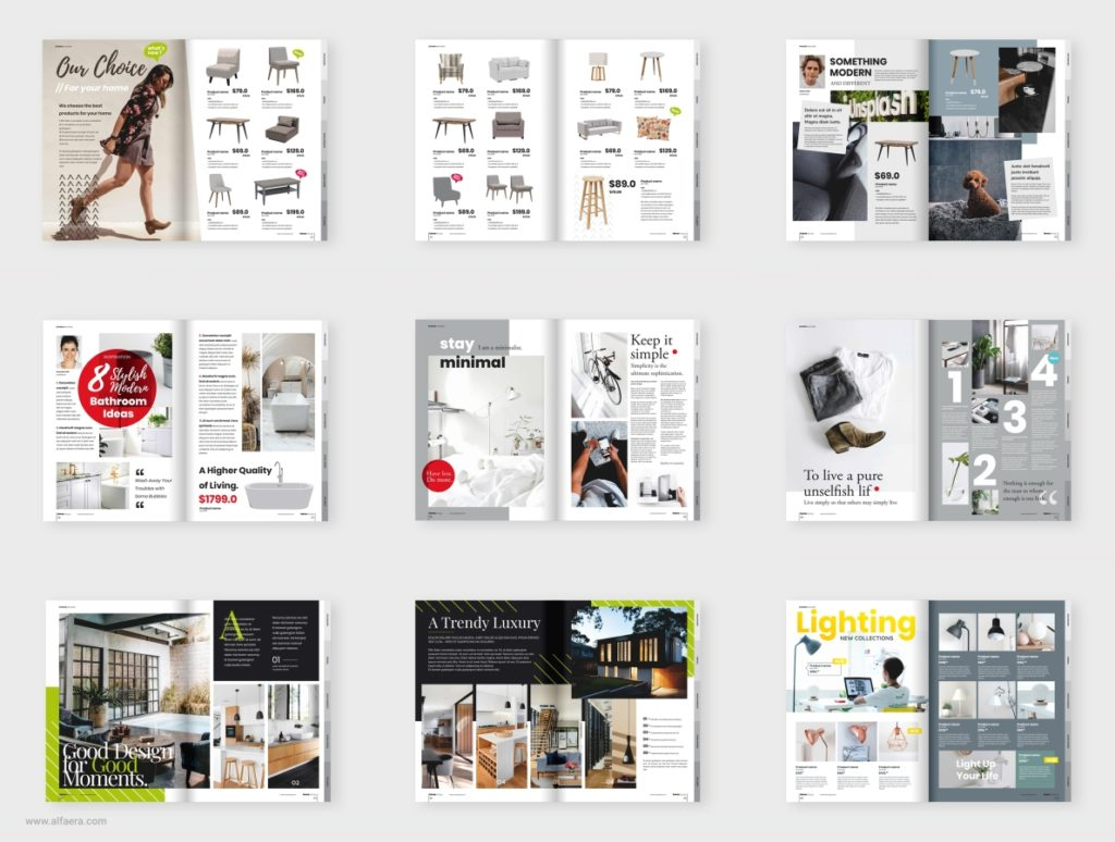Interior magazine template made in CorelDraw