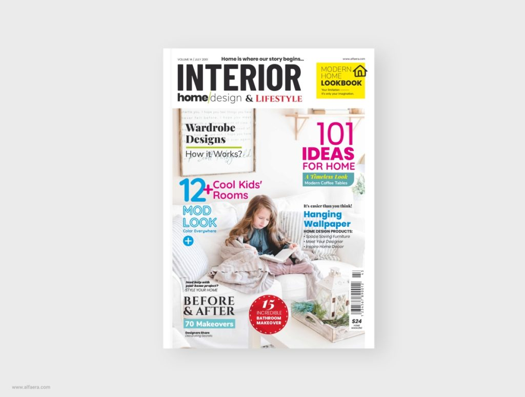 Home Interior Magazine Template