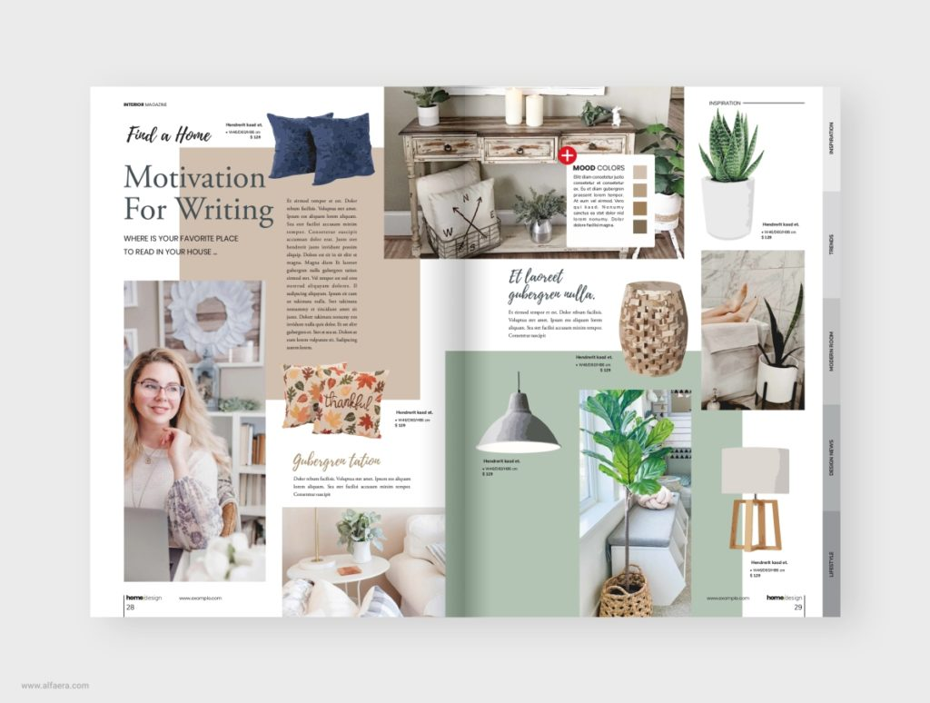 Interior Magazine Template CorelDraw