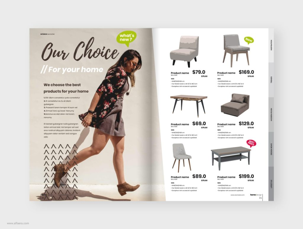 Interior design magazine template coreldraw