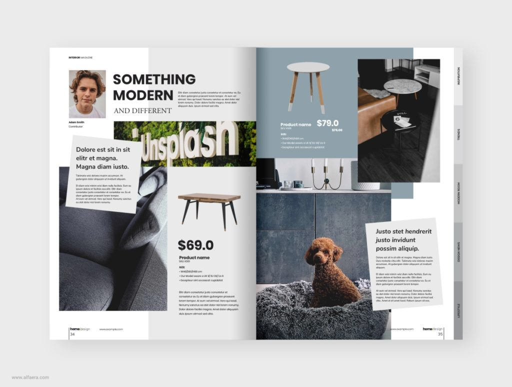 Interior magazine template design