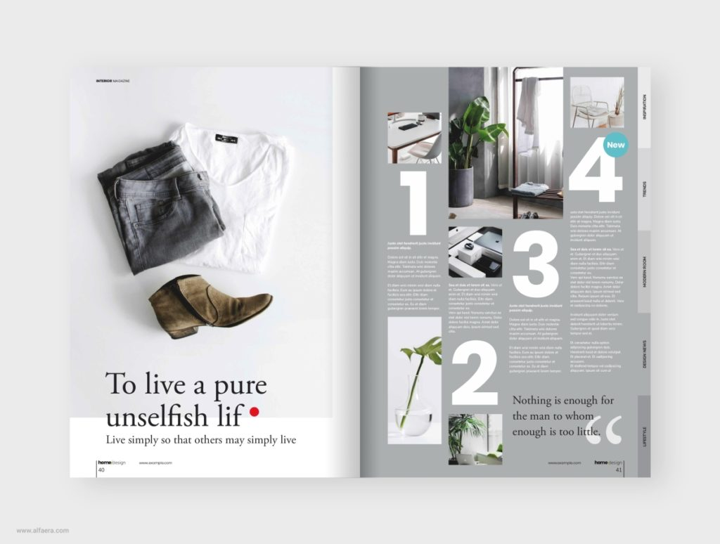 Minimal Interior Magazine Template