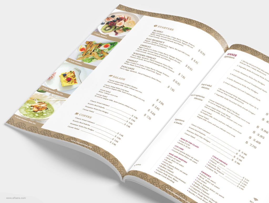 Restaurant and Bar Menu Template
