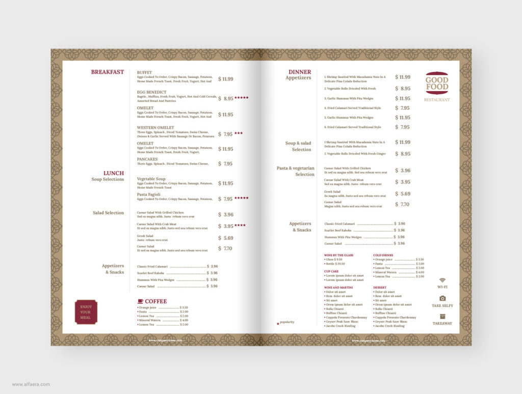 Restaurant Menu Template CorelDRAW