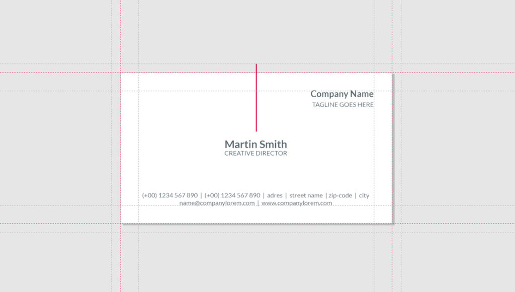 Business Card Guidelines CorelDraw