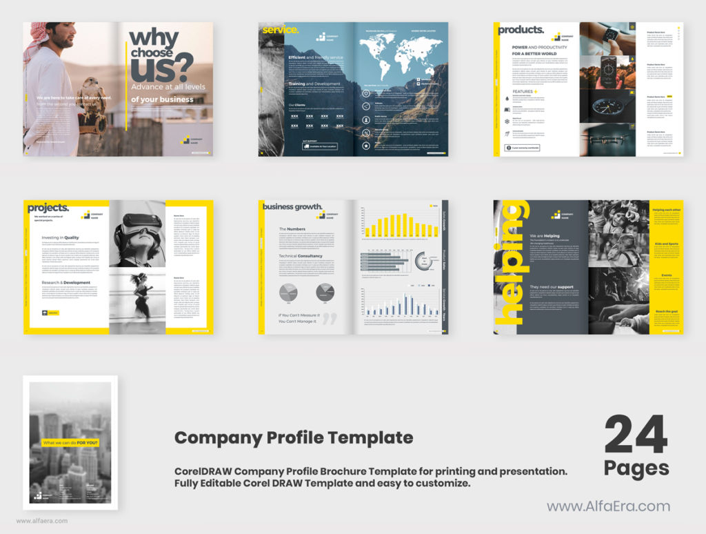 Company Profile CorelDRAW Template