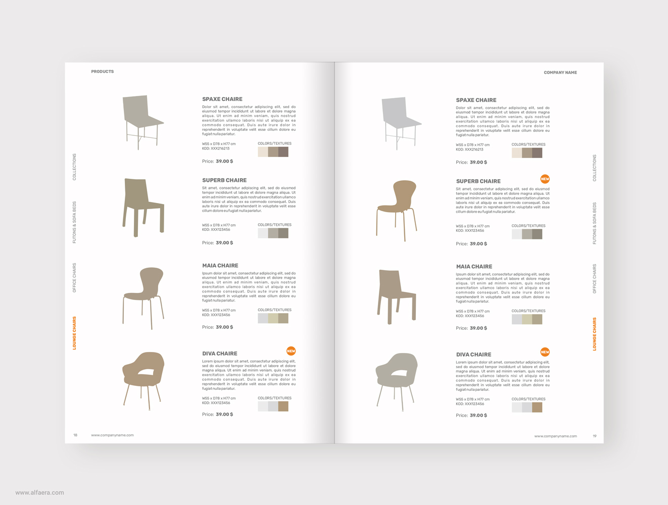 Product Catalog Brochure Template Coreldraw Alfaera
