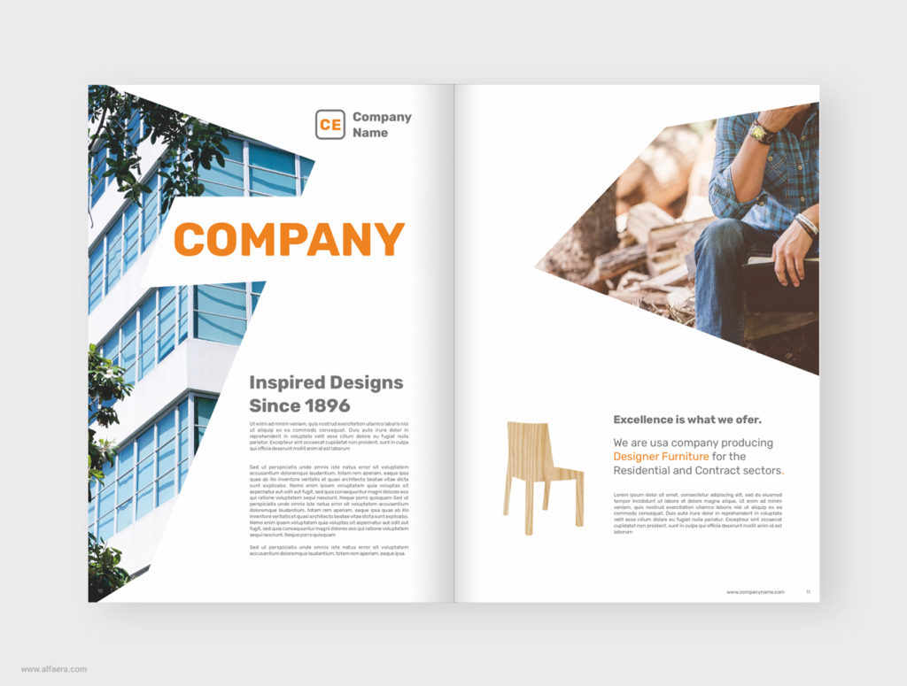 Chairs CorelDraw Brochure Product Catalog Template