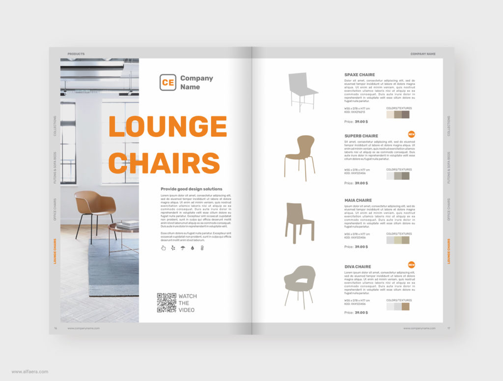 Corel Draw Furniture Product Catalog Brochure Templa