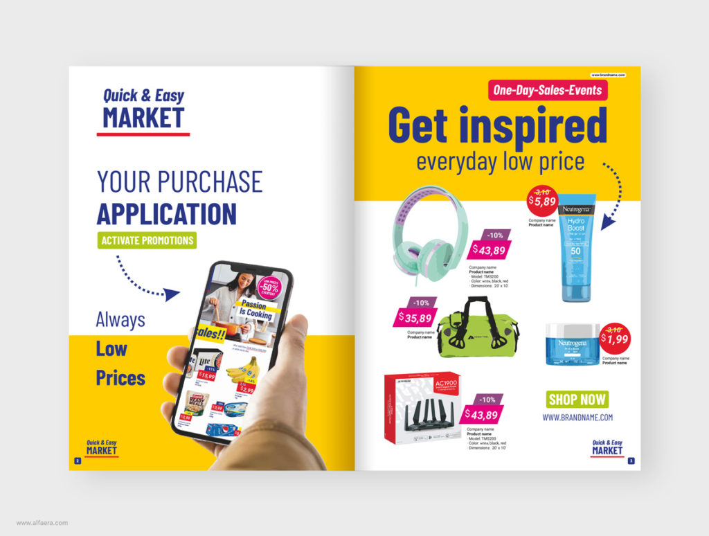 Coreldraw Template Supermarket Product Catalogue