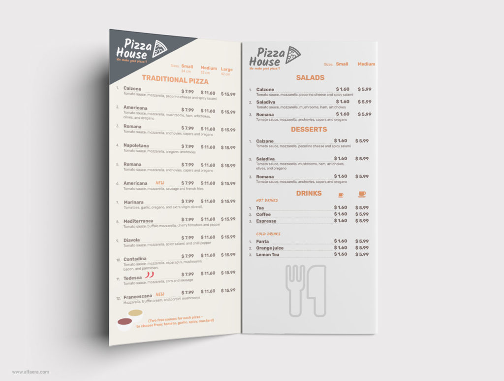 Food Menu Flyer CorelDraw