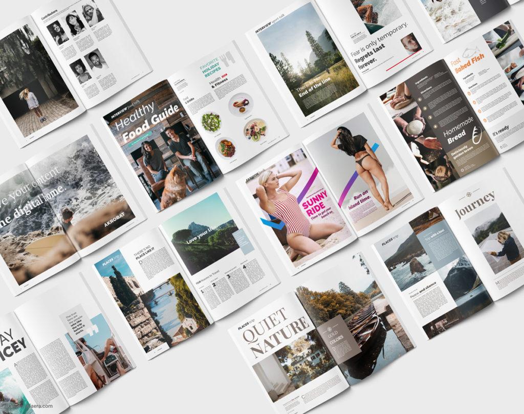 Magazine Template Corel DRAW