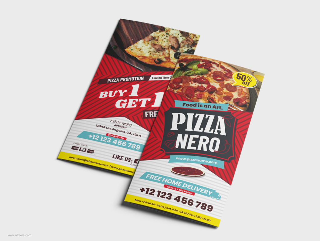 Modern Coreldraw Pizza Flyer Design