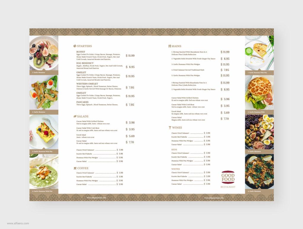 Coreldraw Restaurant Menu Template