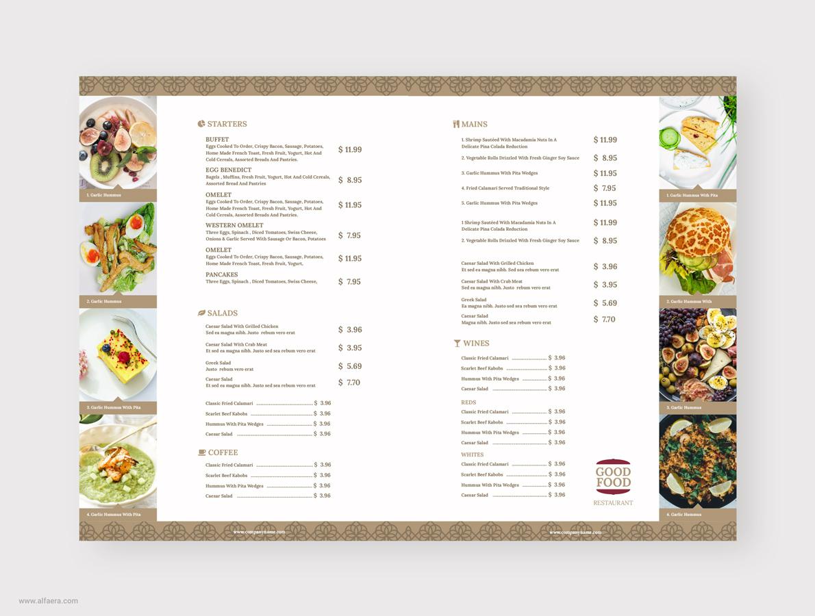 Restaurant Menu Template Alfaera Coreldraw Templates
