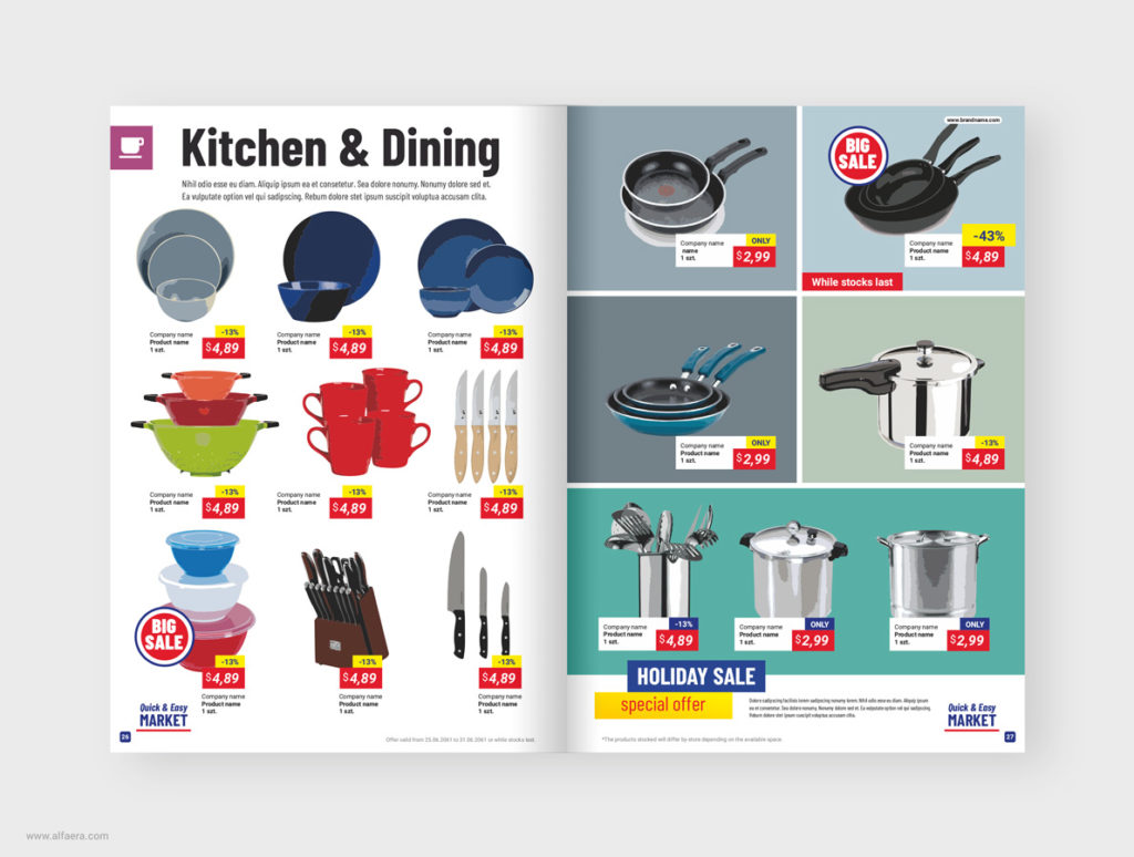 CorelDRAW Market Brochure Template