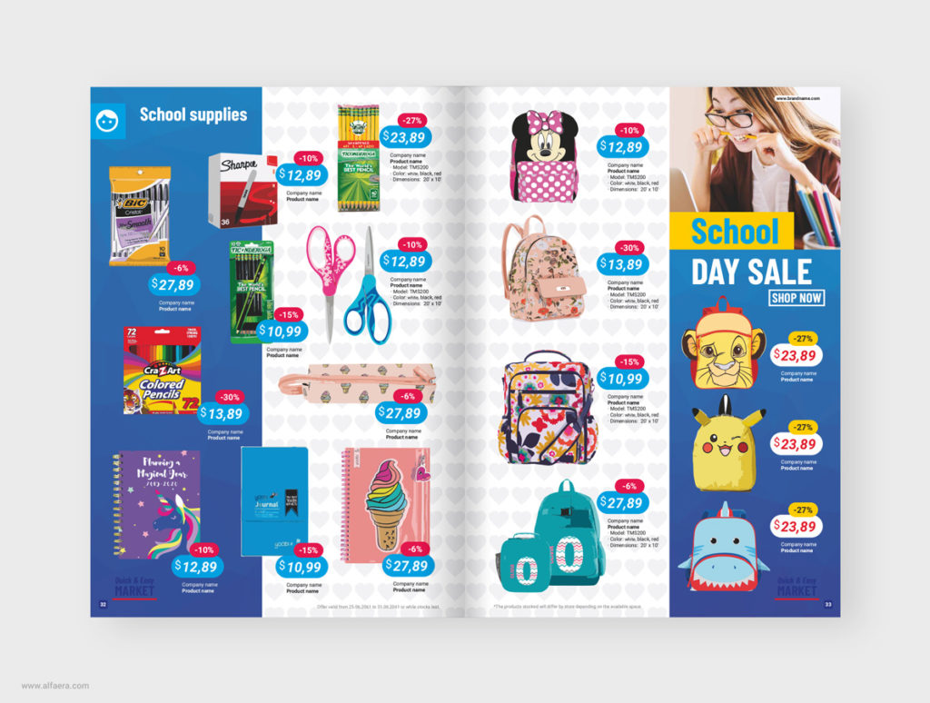 Supermarket catalog template coreldraw