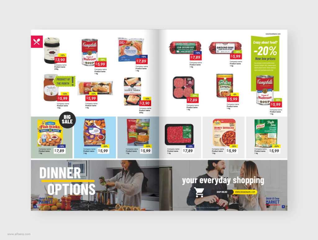 Supermarket product catalogue template coreldraw