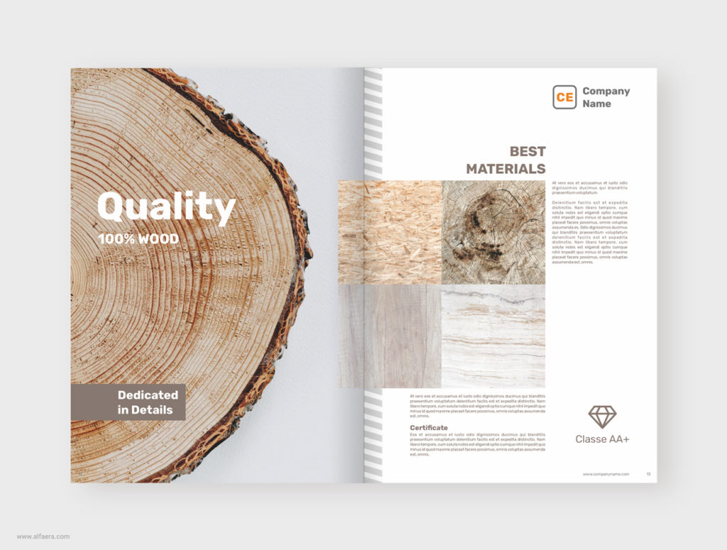 Wood Brochure Template