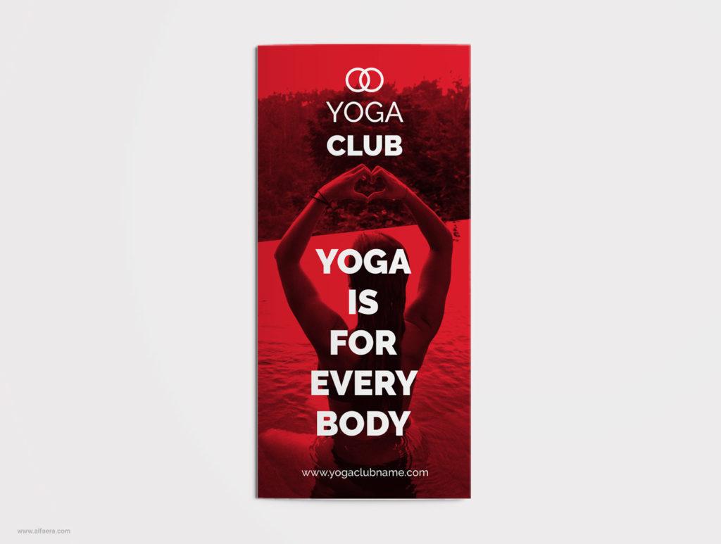 Yoga Trifold Brochure CorelDraw