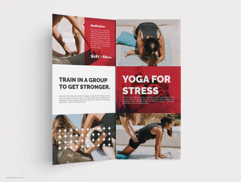 Creative Yoga Template CorelDraw